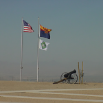 Ceremonial Flags and Cannon